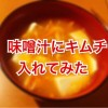 寒い夜だから味噌汁にキムチを入れてみたら体が温まった