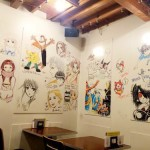 荻窪にアニメキャラが漫画家直筆で壁一面に描かれたカフェがある