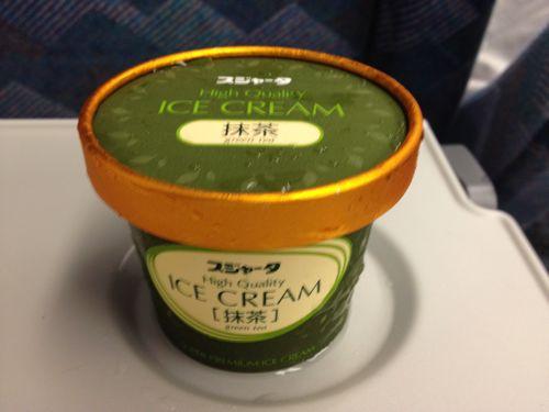新幹線車内限定販売のアイスが癒されるスジャータ抹茶味